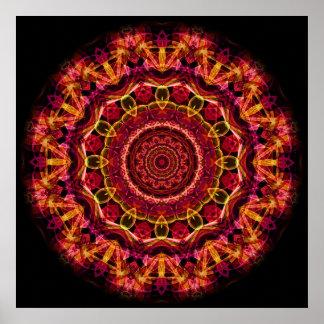 Stunning Chaos kaleidoscope Poster