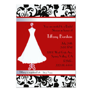 Stunning Damask Bridal Shower Invitation