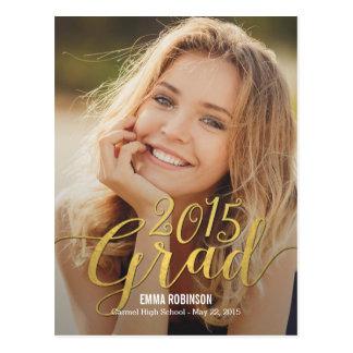 Stunning Elegance Graduation Announcement Invite Postcard