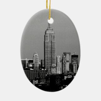 Stunning! Empire State Building New York City Ceramic Oval Decoration