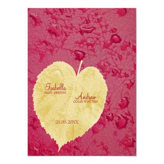 Stunning Fall Wedding 14 Cm X 19 Cm Invitation Card