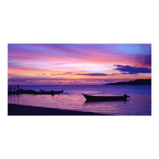 Stunning Fijian Sunset Photo Cards