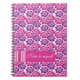 Stunning Fuchsia Purple Flowers Notes to Myself Notebook