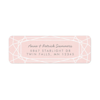 Stunning Gem Chic Modern Return Address Labels