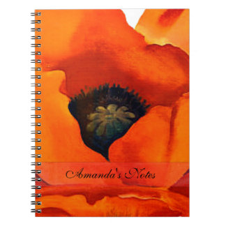Stunning Georgia O'Keefe Red Poppy Flower 1927 Note Book