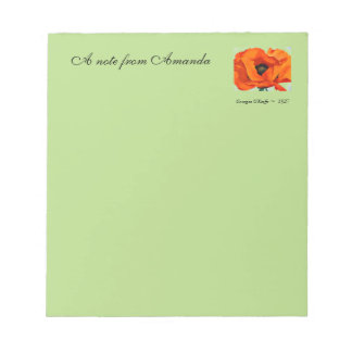 Stunning Georgia O'Keefe Red Poppy Flower 1927 Notepad