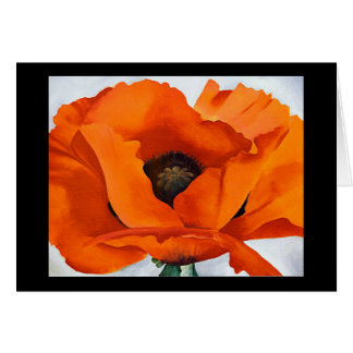Stunning Georgia O'Keeffe Red Poppy Blank Card