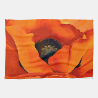 Stunning Georgia O'Keeffe Red Poppy Tea Towel