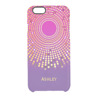 Stunning Girly Pink Purple Ombre Fuchsia Colors Clear iPhone 6/6S Case