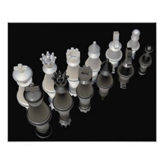 Stunning glass chess pieces photographic print