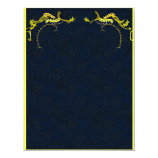Stunning gold on ink blue invitation card