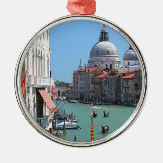 Stunning! Grand Canal Venice Silver-Colored Round Decoration