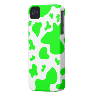 Stunning Green/White Cow Print - iPhone 4/4s Case