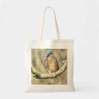 Stunning Kingfisher In Watercolor Tote Bag