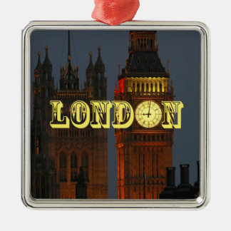 Stunning London Pro Photo Silver-Colored Square Decoration
