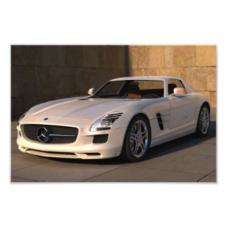 Stunning mercedes sports car photographic print