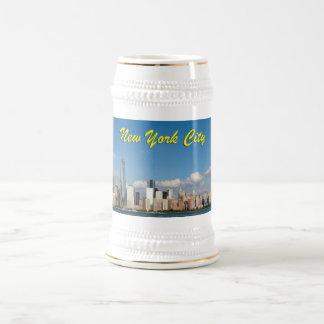 Stunning New York City USA Beer Steins