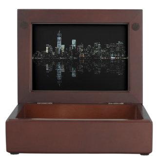 Stunning Night Photo of New York Skyline Memory Box