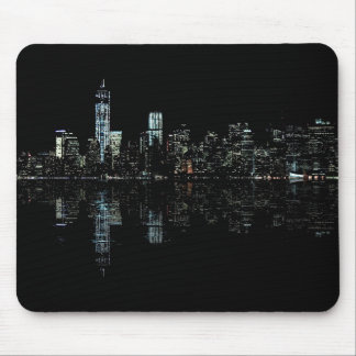 Stunning Night Photo of New York Skyline Mouse Mat