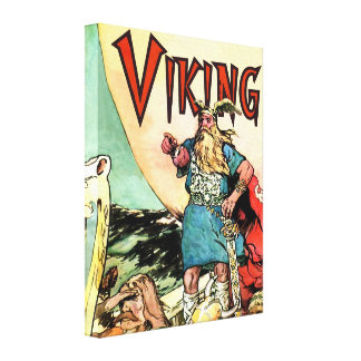 Stunning Norseman Norge Viking Scandanavian Viking Stretched Canvas Print