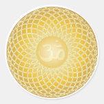 Stunning Om Symbol Round Stickers
