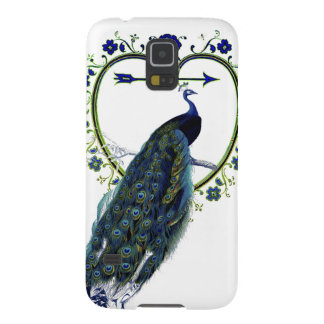 Stunning Peacock and ornate heart flower frame Case For Galaxy S5
