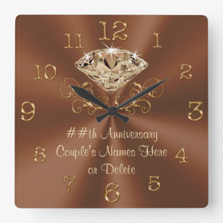 Stunning Personalized Anniversary Clocks