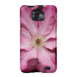 Stunning pink clematis print samsung galaxy SII covers