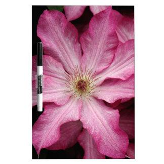 Stunning pink clematis print dry erase whiteboards