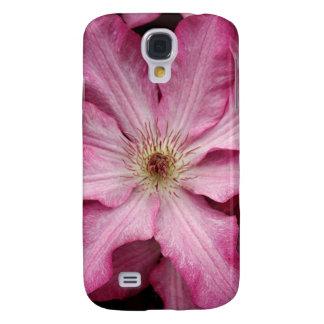 Stunning pink clematis print galaxy s4 case