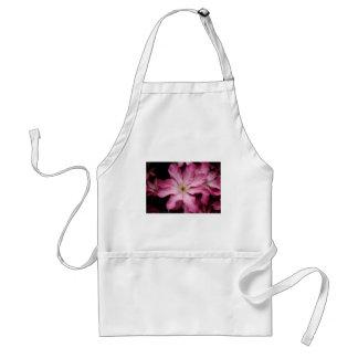 Stunning pink clematis print standard apron