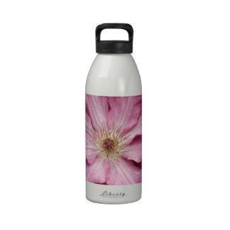 Stunning pink clematis print water bottles