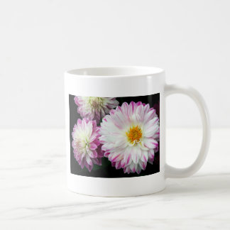Stunning pink dahlia print coffee mug