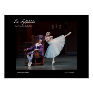 stunning poster for LA SYLPHIDE ballet
