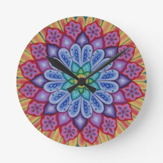 Stunning psychedelic Mandala clock by Soozie Wray