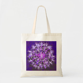 Stunning Purple Floral Tote Tote Bags