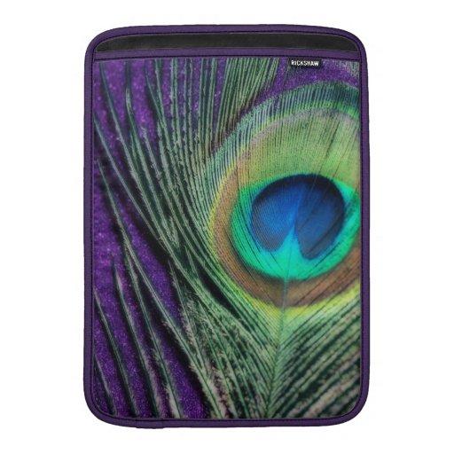 Stunning Purple Peacock MacBook Air Sleeve