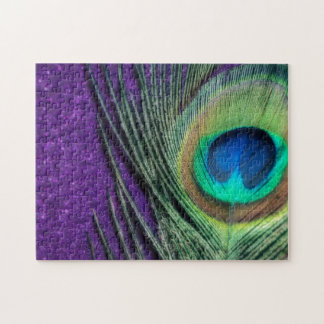 Stunning Purple Peacock Jigsaw Puzzle