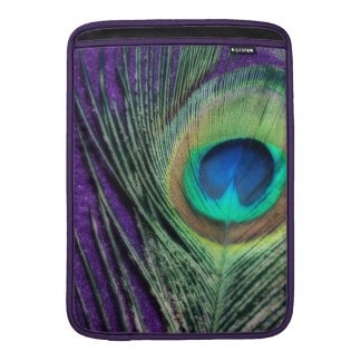 Stunning Purple Peacock MacBook Sleeve
