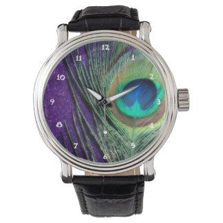 Stunning Purple Peacock Watch