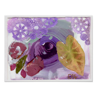 "Stunning Purple Rose fine art poster print 12""x16"""