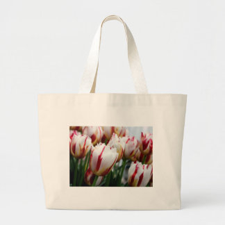 Stunning red and white tulip print bags