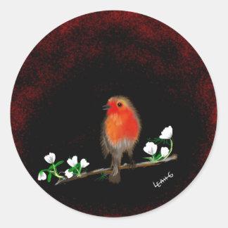 Stunning Red Robin original art gifts acessories Classic Round Sticker