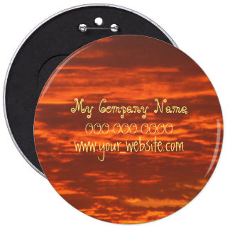 Stunning Red Skies 6 Inch Colossal Round Button