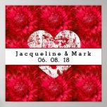 Stunning Red Wedding Dahlia Petals X23 Poster