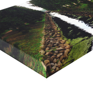 Stunning River Wrapped Canvas
