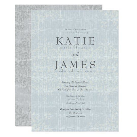 Stunning Silver & Lace Wedding Card