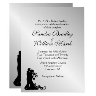 Stunning Silver Wedding Invitation