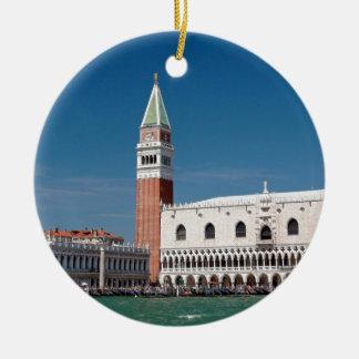 Stunning! St Mark's Square Venice Round Ceramic Decoration