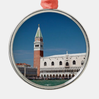 Stunning! St Mark's Square Venice Silver-Colored Round Decoration